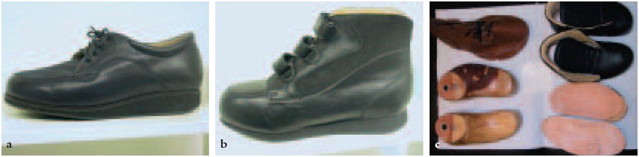 Individuální obuv. C: Rozpracovaná individuální obuv.