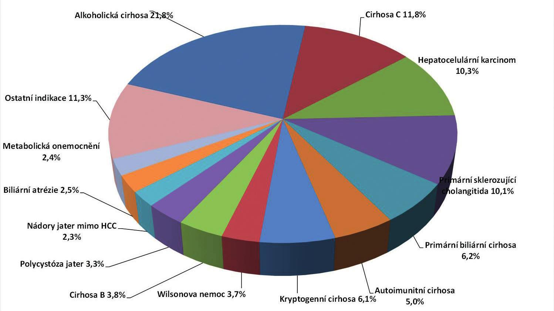 Indikace k LTx, IKEM 1995-2014.