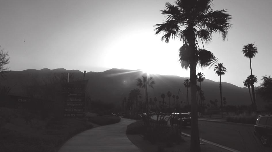 Západ slunce nad Palm Springs