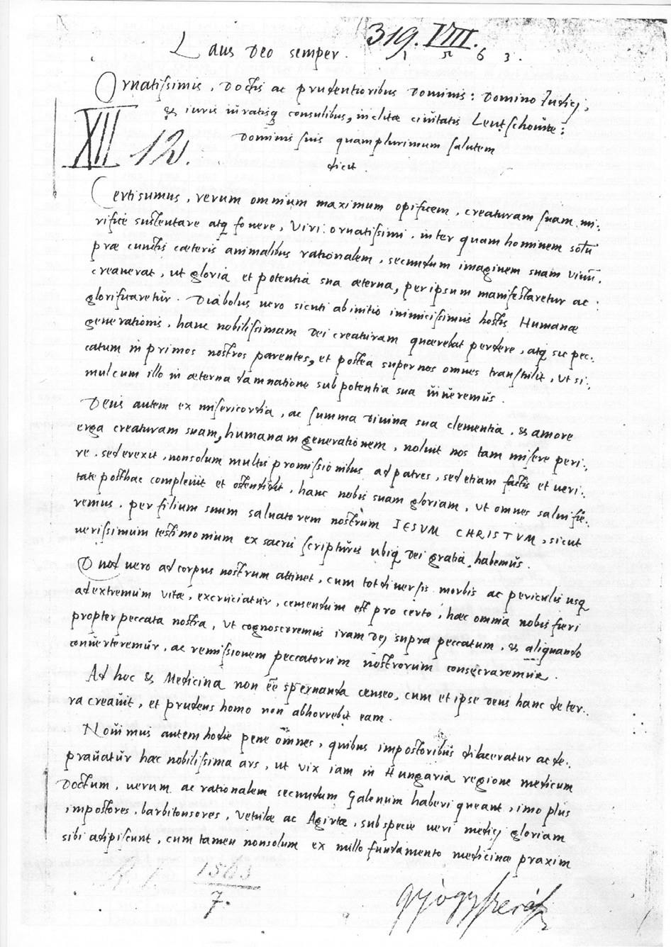 Archív mesta Levoče, žiadosť o miesto lekárnika Fridricha Klug-Sopha