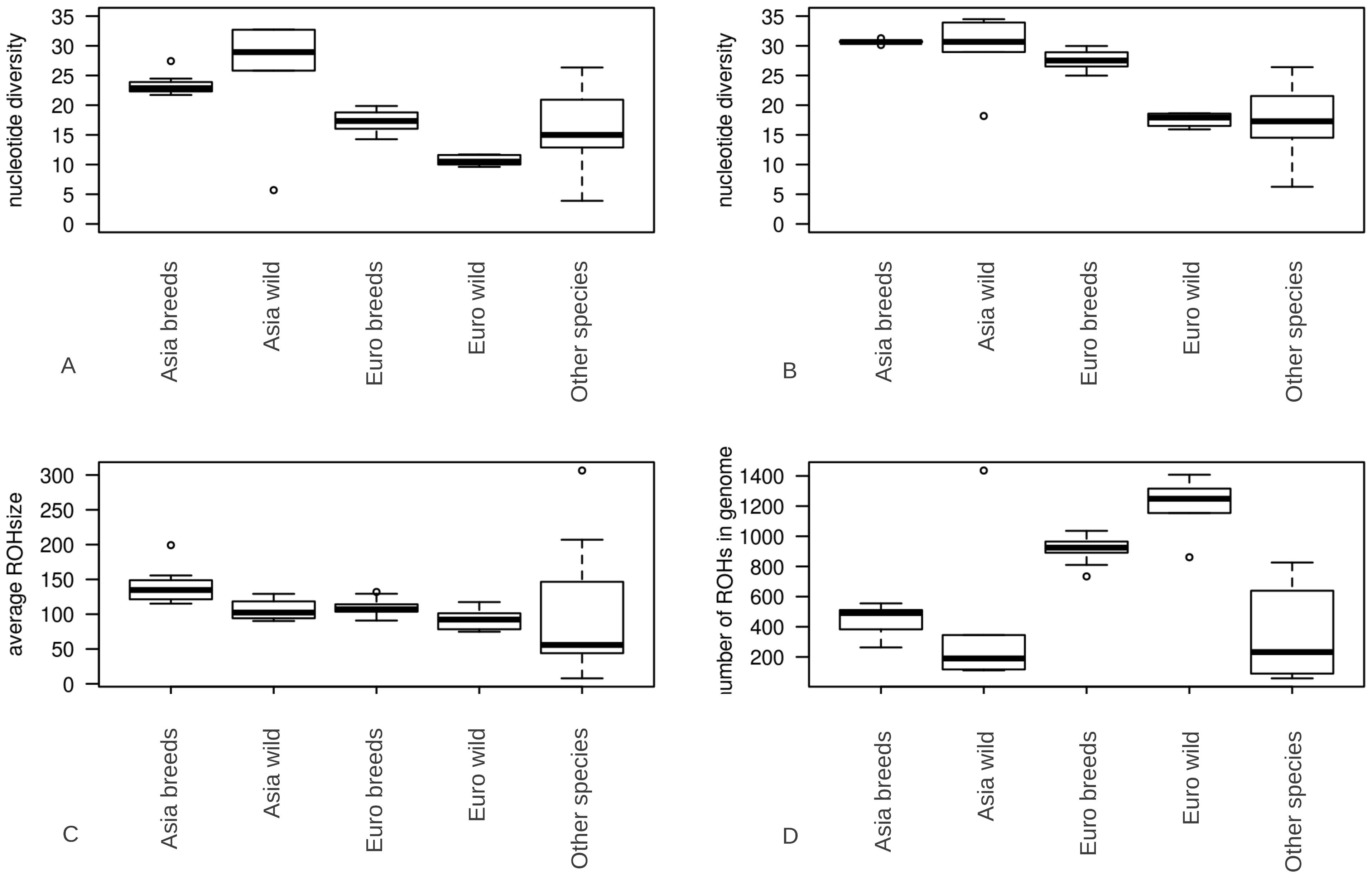 Summary statistics for genomic variation.