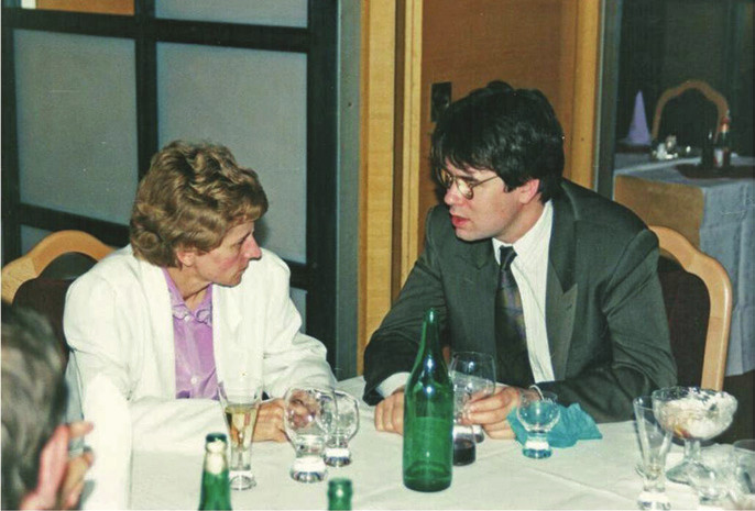 Ing. Alžbeta Füriová v rozhovore so zástupcom firmy.