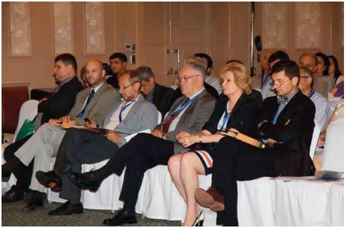 6. mezinárodní gastroenterologické sympozium organizované firmou PROMED CS se v letošním roce uskutečnilo ve středoasijském Taškentu. Fig. 2. The 6th international gastroenterological symposium organized by PROMED CS company was held in Central Asian city Tashkent at this year.