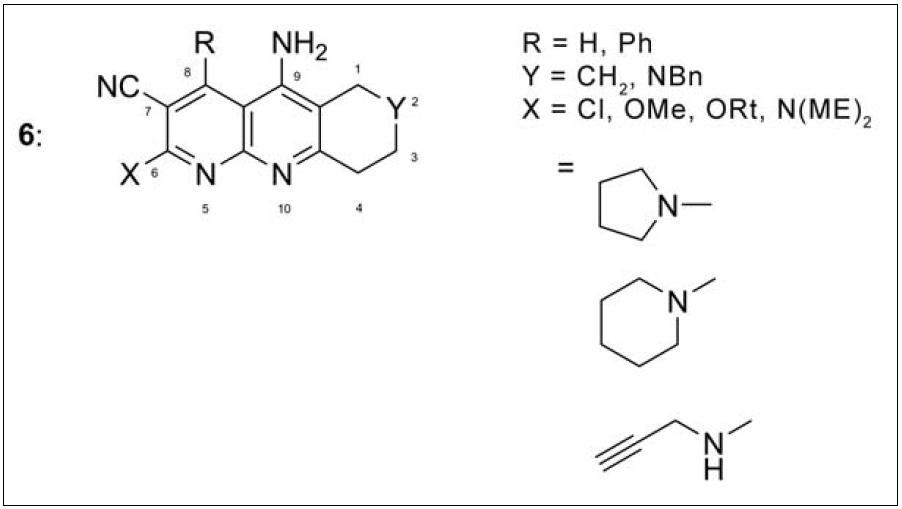Monotakriny s nitrilovou skupinou v poloze 7