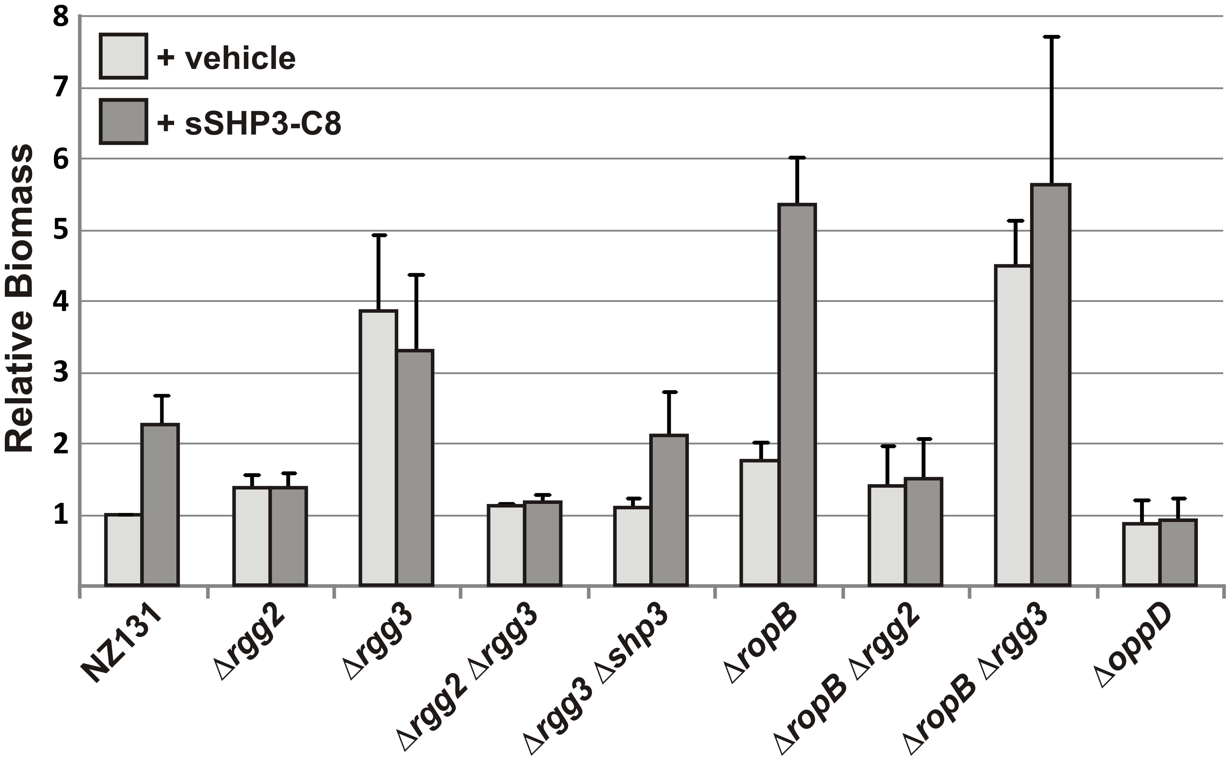 Influence of Rgg regulators on biofilm production.