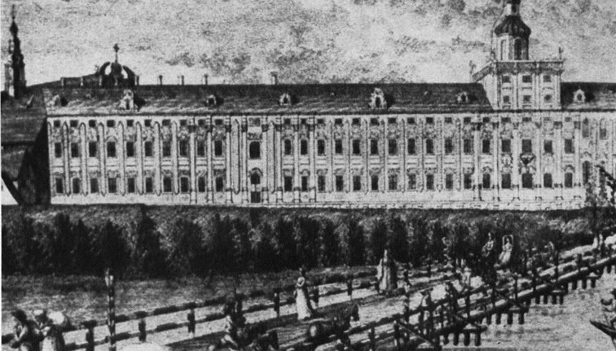 Pohled na vratislavskou univerzitu v 19. století