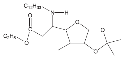 Derivát 5-aminofuranosy – inhibitor biosyntézy peptidoglykanu