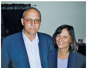 Prof. Vítovec se svou manželkou Lenkou.