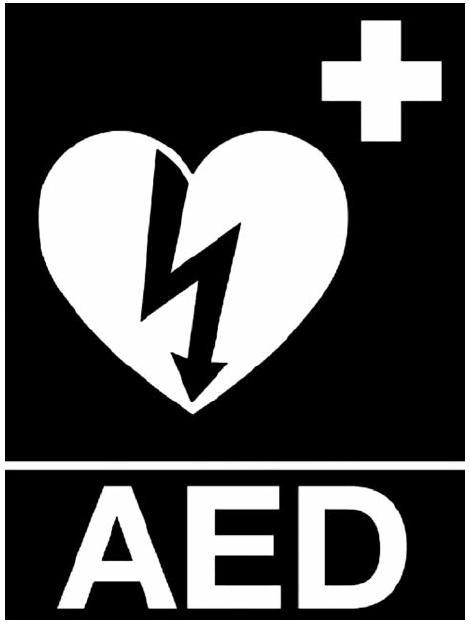 Obr. 3. Doporučené označení automatizovaných externích defibrilátorů [15]