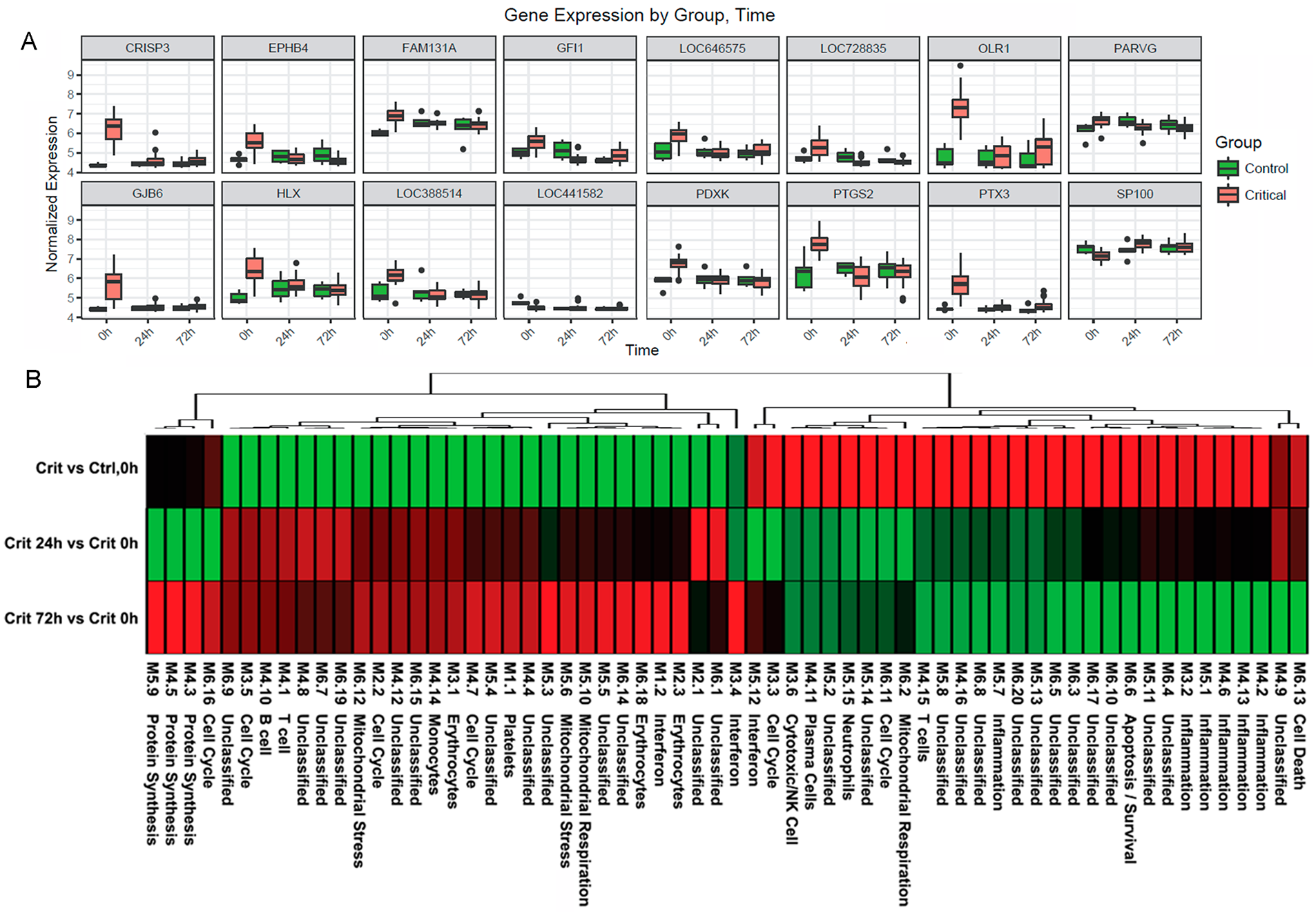 Immune systems analysis in the hyperacute window.