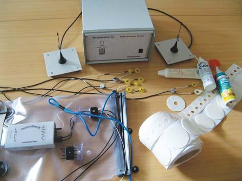 Vybavení SEMG nutné ke snímání ve vodním prostřední.