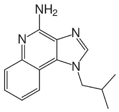 Strukturní vzorec imiquimodu.