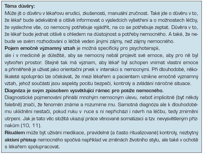 Obecné faktory v lékařské praxi