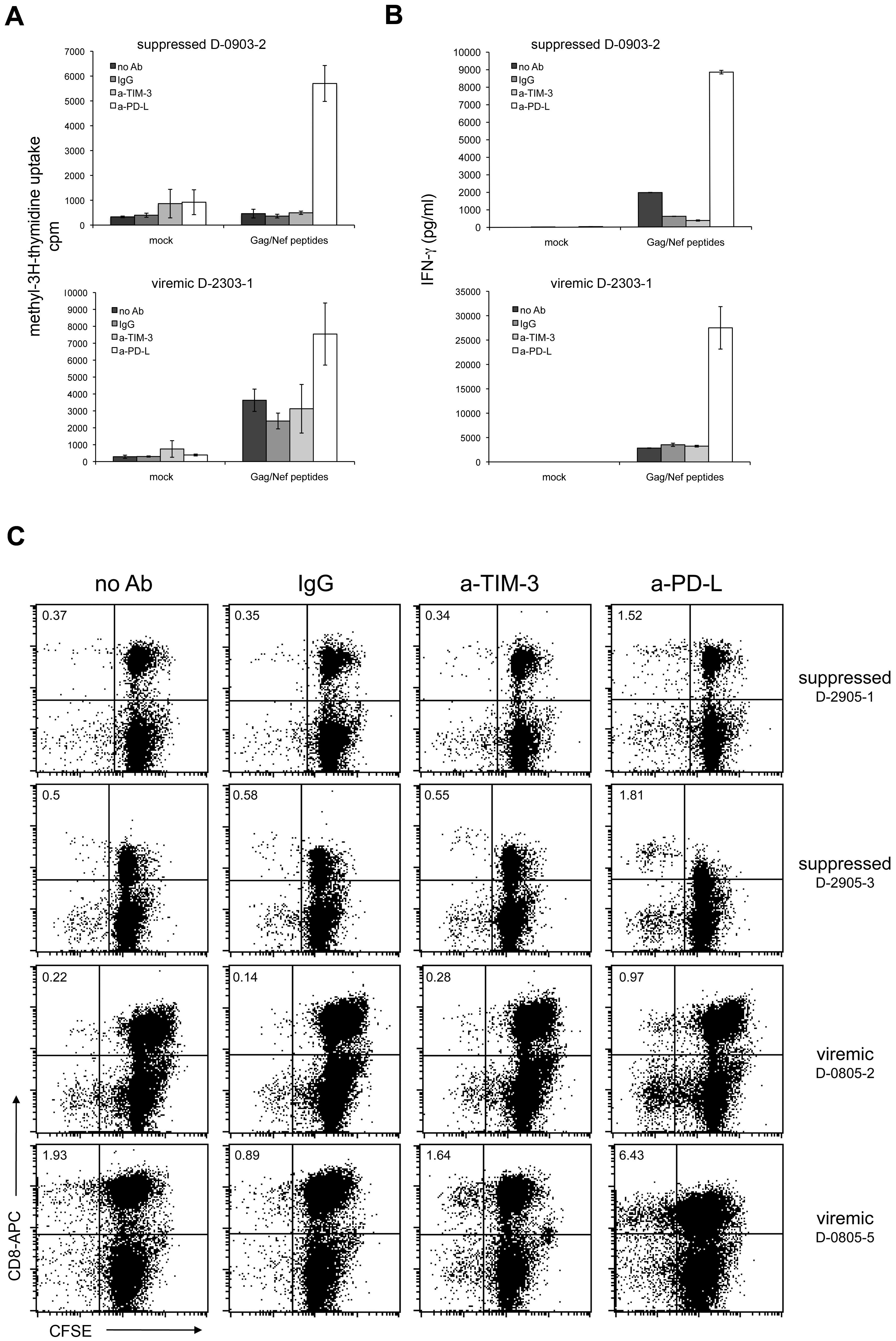 TIM-3 antibodies do not revert T cell exhaustion.