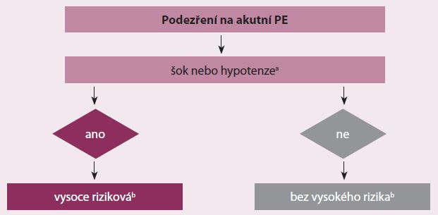 Bazální riziková stratifikace akutní PE.