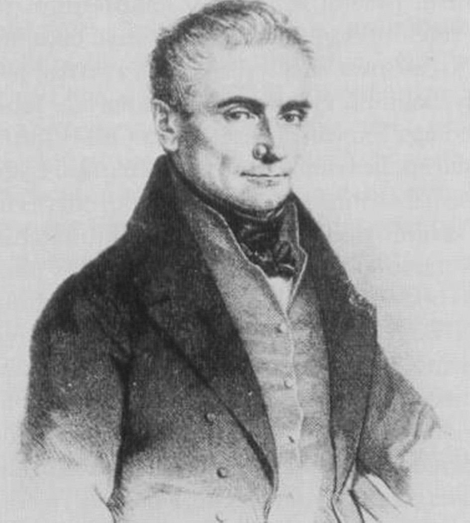 Portrét J. E. Purkyně z roku 1837.