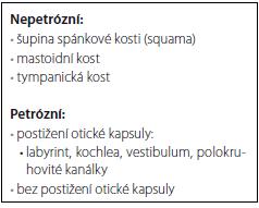 Klasifikace zlomenin spánkové kosti.
