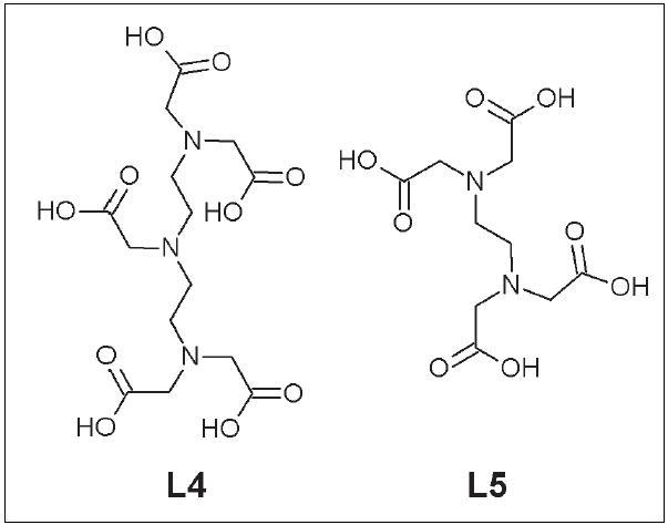 DTPA (L4) a EDTA (L5).