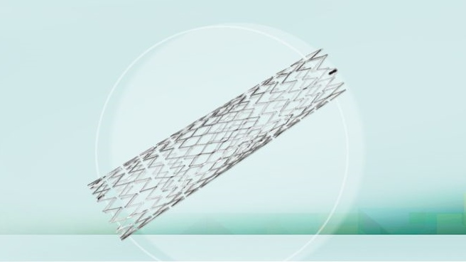 Typ karotického stentu s hybridním designem (Cristallo Ideale, Medtronic)