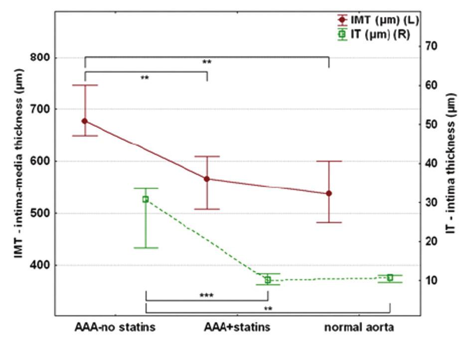 Srovnání síly stěny aneuryzmatu Graph 3: Aneurysmal wall thickness