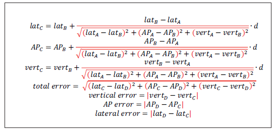 Fig. 3. Mathematical model for calculation of accuracy.