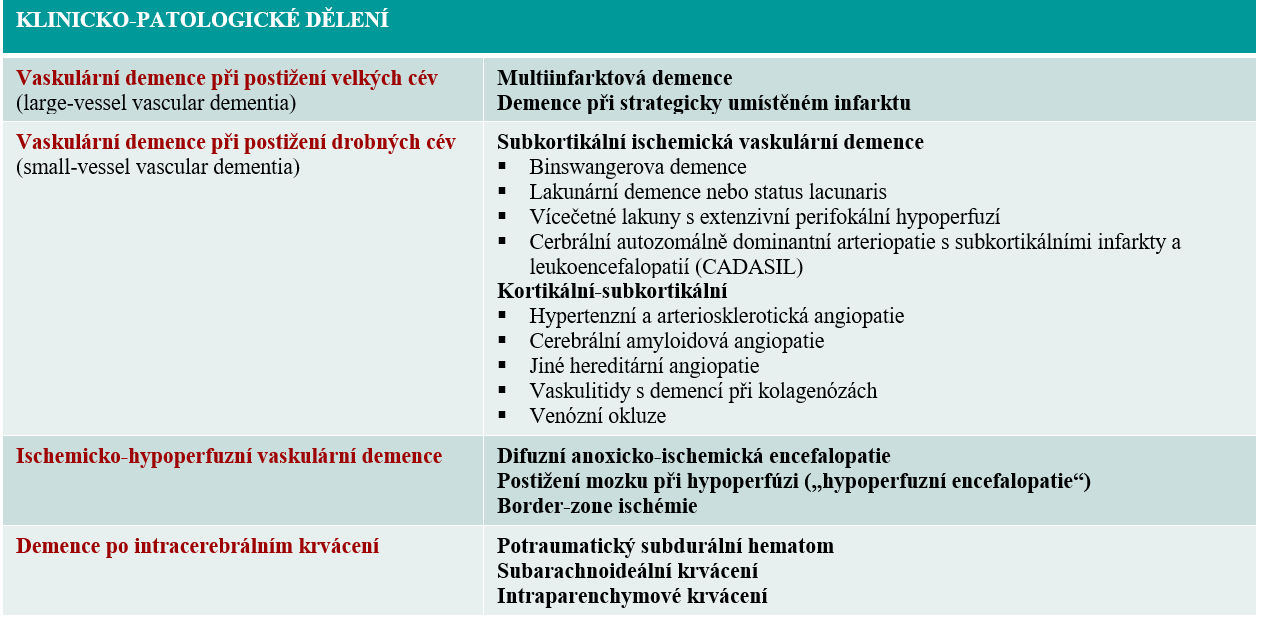 Klinicko-patologické dělení