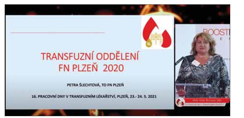 Prim. MUDr. Petra Šlechtová, MBA, při zahájení konference.