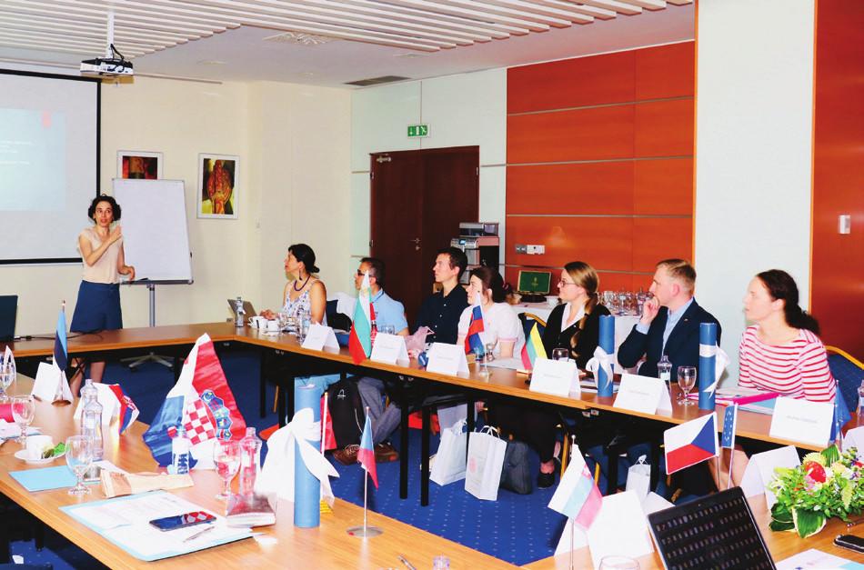 Foto 1, 2. Z jednání FIP7 programu projektu EUROAGEISM H2020, 28. června 2018 (1. den jednání) – hotel Tatra, Bratislava