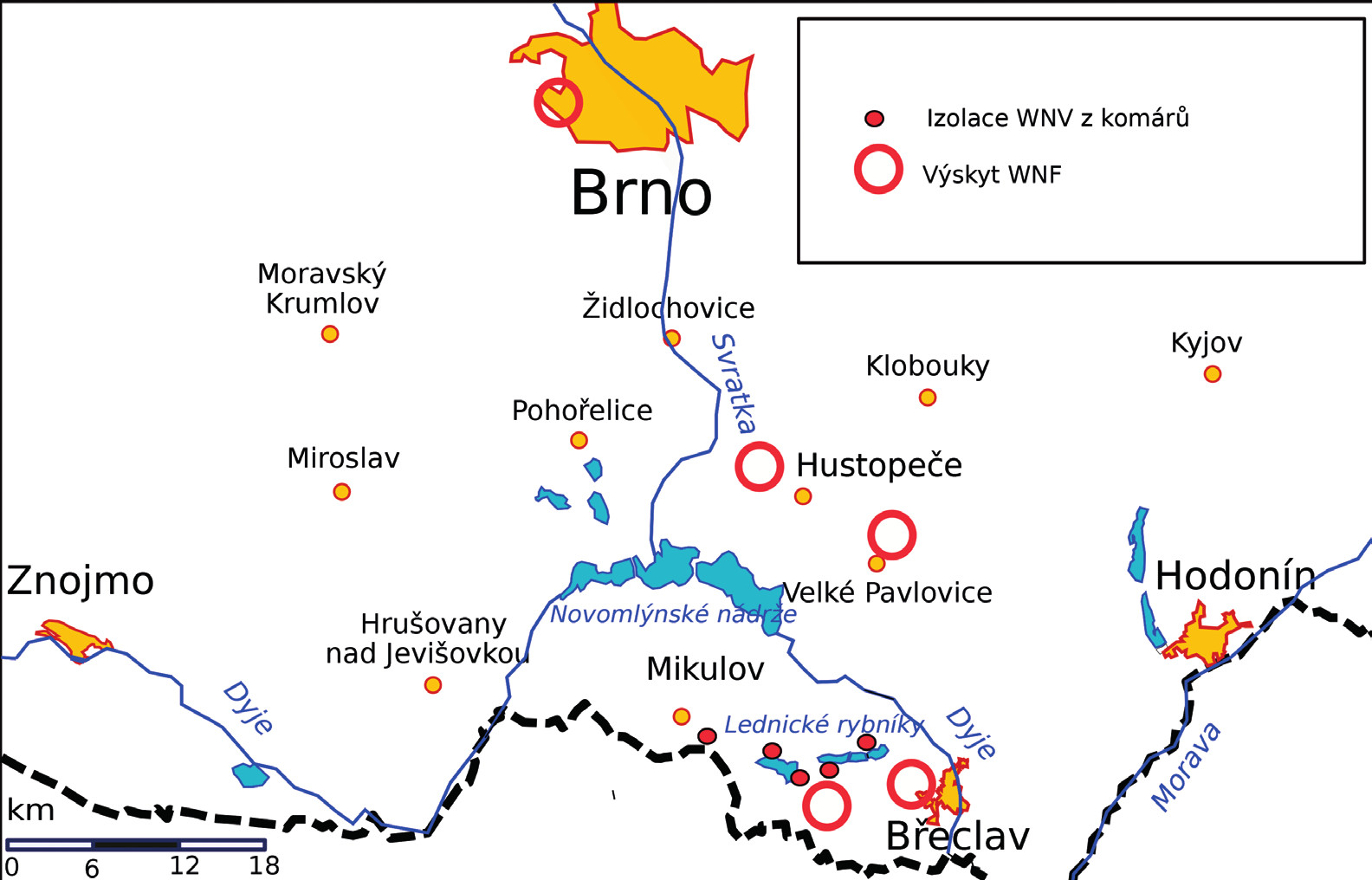 Lokality akvirace nákazy<br>