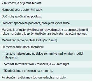 Zásady měření TK v ordinaci
