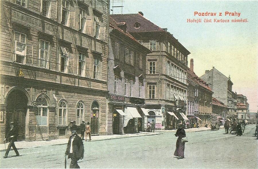 Dětská klinika na Karlově náměstí (kolorovaný světlotisk, F. J. Jedlička, 1904)