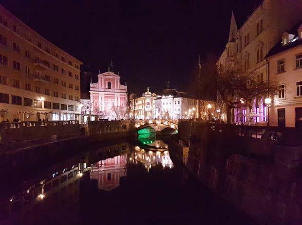 Noční Lublaň<br> Fig. 1. Ljubljana by night