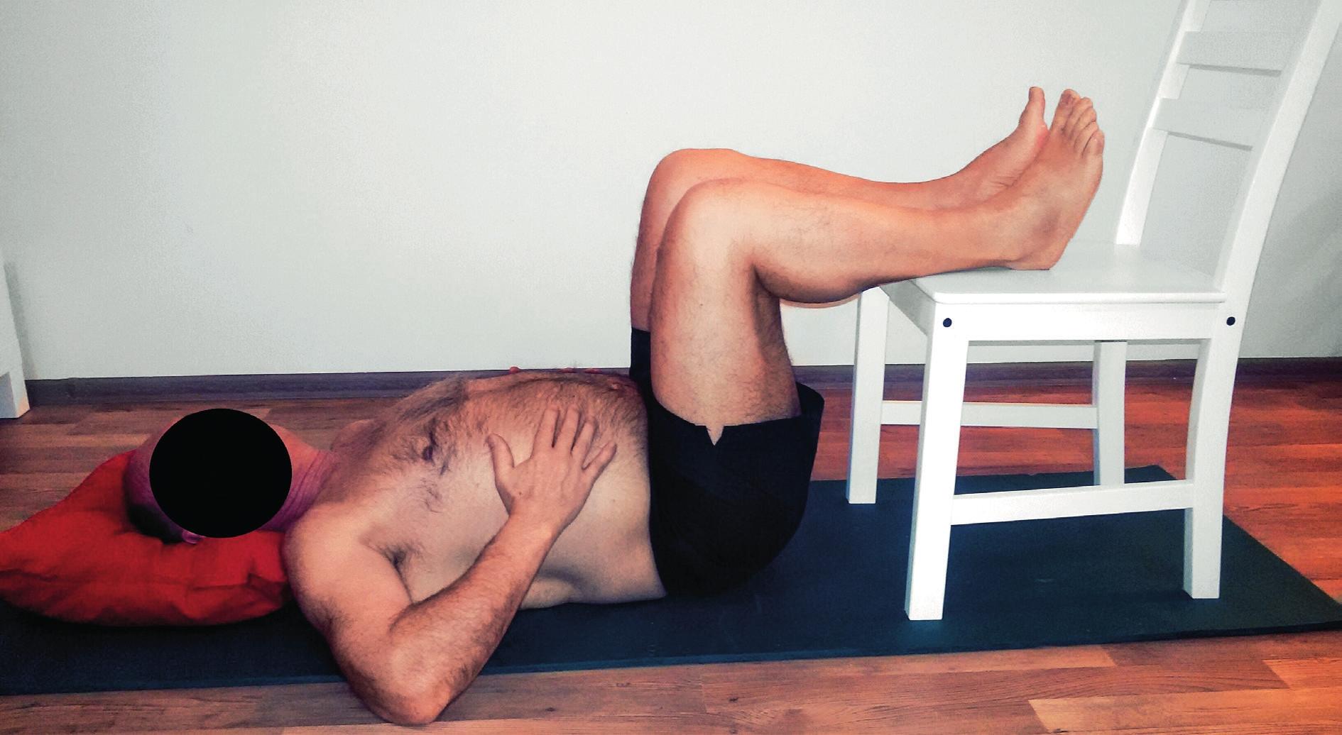 Lokalizované nebo klidové dýchání vleže na zádech