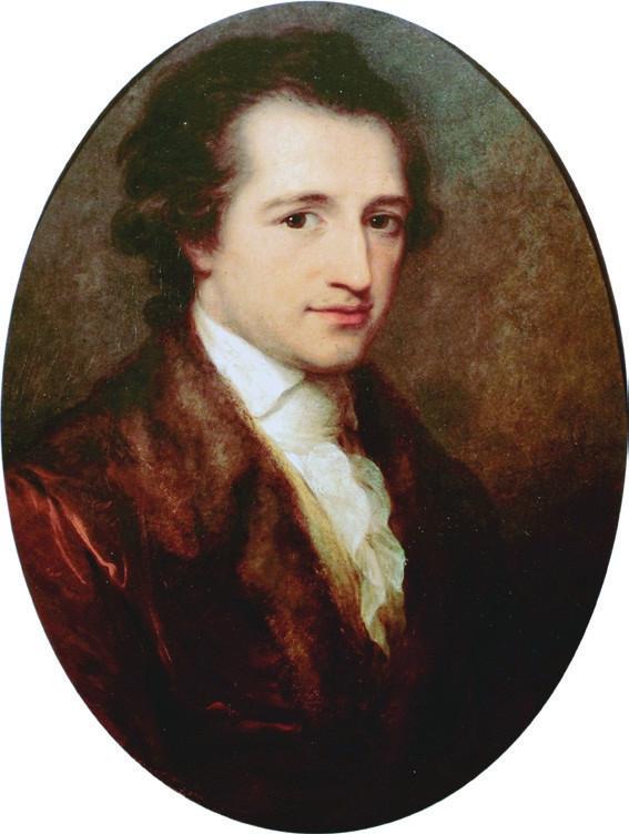 Johann Wolfgang von Goethe v roce 1775 <br>(olej Angeliky Kauffmanové)