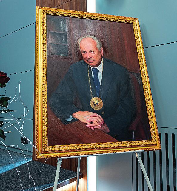 Portrét prof. J. Blahoše od Tomáše Kubíka