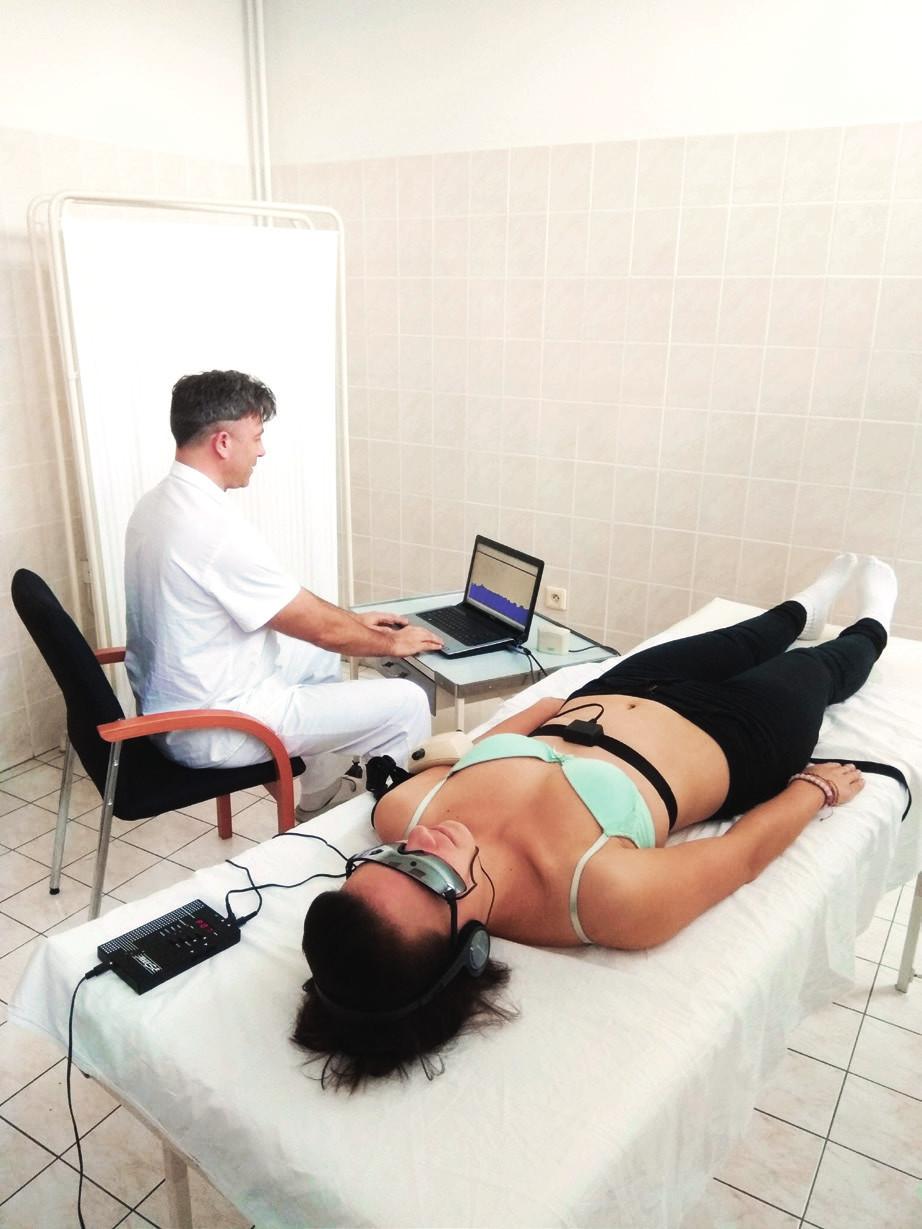 Vyšetření probanda metodou SAVSF (přístroj VarCor PF7) při aplikaci vybraného relaxačního programu AVS (přístroj Photosonix Muse).