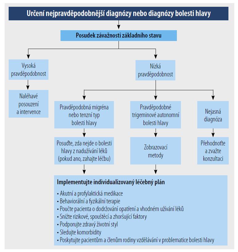Diagnostický přístup k pacientovi s častými bolestmi hlavy.