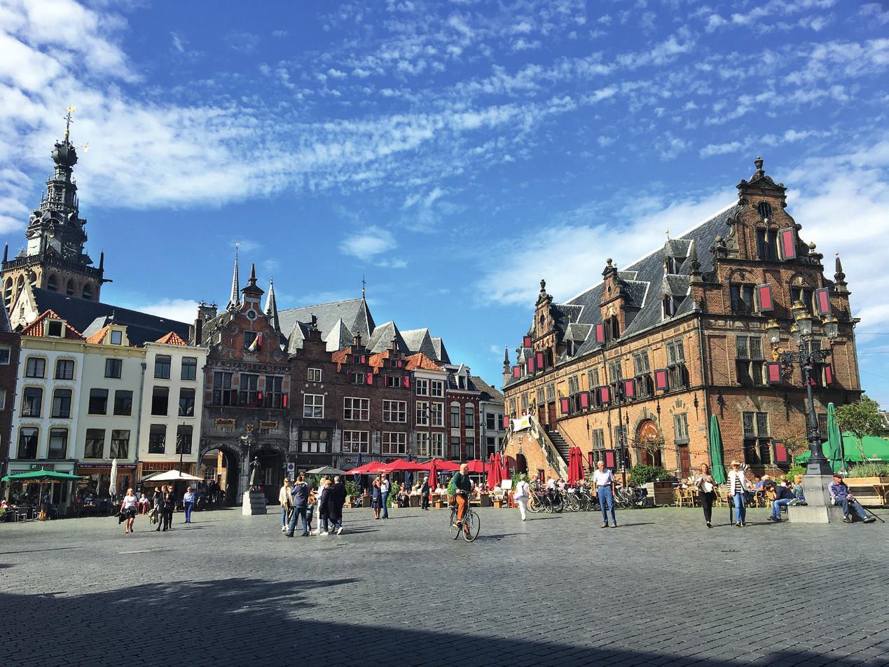Náměstí města Nijmegenu.
