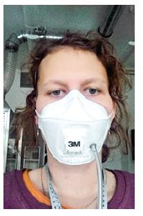 Měření ochranného faktoru s respirátorem 3M Aura [9]