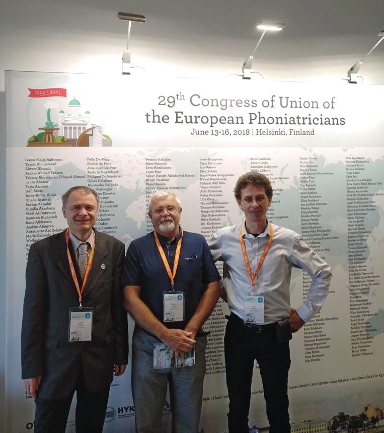 Zúčastnění foniatři na UEP kongresu (zleva: Dršata, Lejska, Černý).