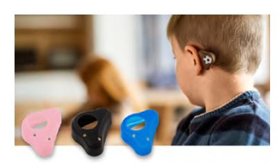 ADHEAR – umístění za uchem u dítěte