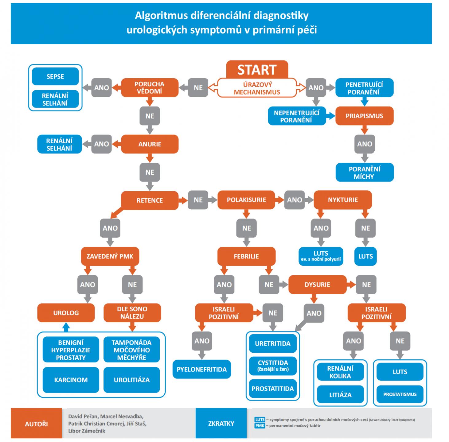 Algoritmus diferenciální diagnostiky urologických symptomů v primární péči