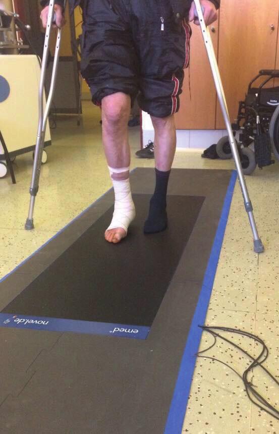 Vyšetření na ortopedickém chodníku