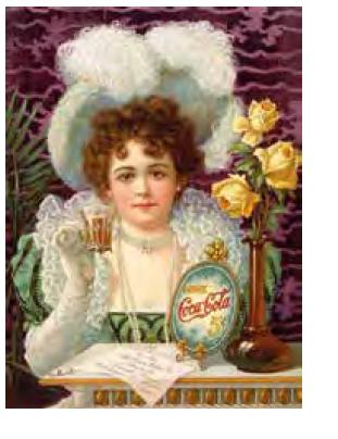 Reklama na Coca‑Colu ještě obsahující kokain, okolo r. 1890. Zdroj: Wikimedia Commons (CC BY 4.0)