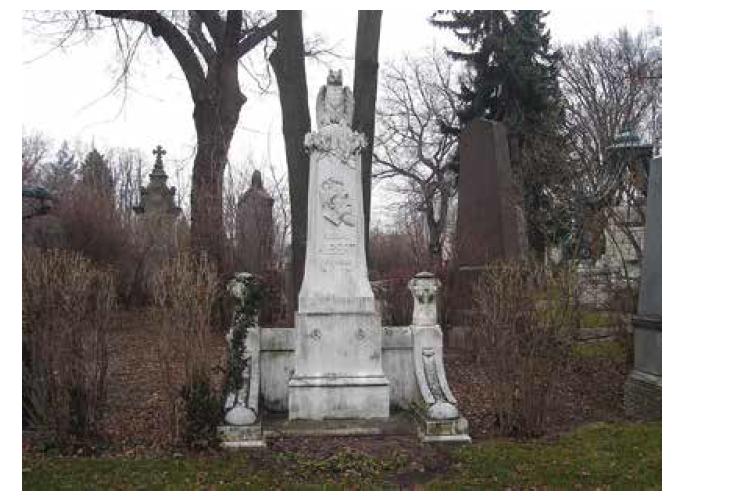 Náhrobek E. Alberta na vídeňském Zentralfriedhof