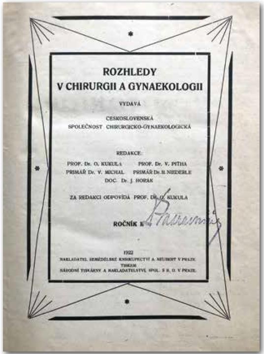 Titulní strana prvního vydání v roce 1922