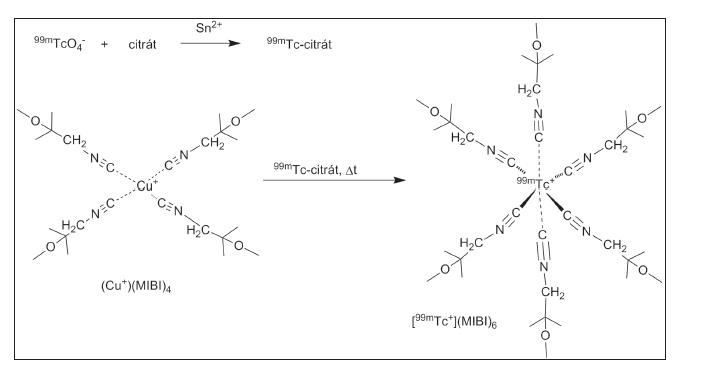 Obr. 8 Příprava 99mTc-MIBI. 83,84