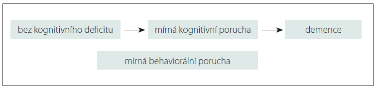 Diagnostická kategorie mírné behaviorální poruchy.<br>