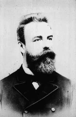 Autor průkopnického článku, pražský internista Otto Kahler (1849-1893) (dostupné z https://commons.wikimedia.org/ wiki/File:Kahler.JPG)