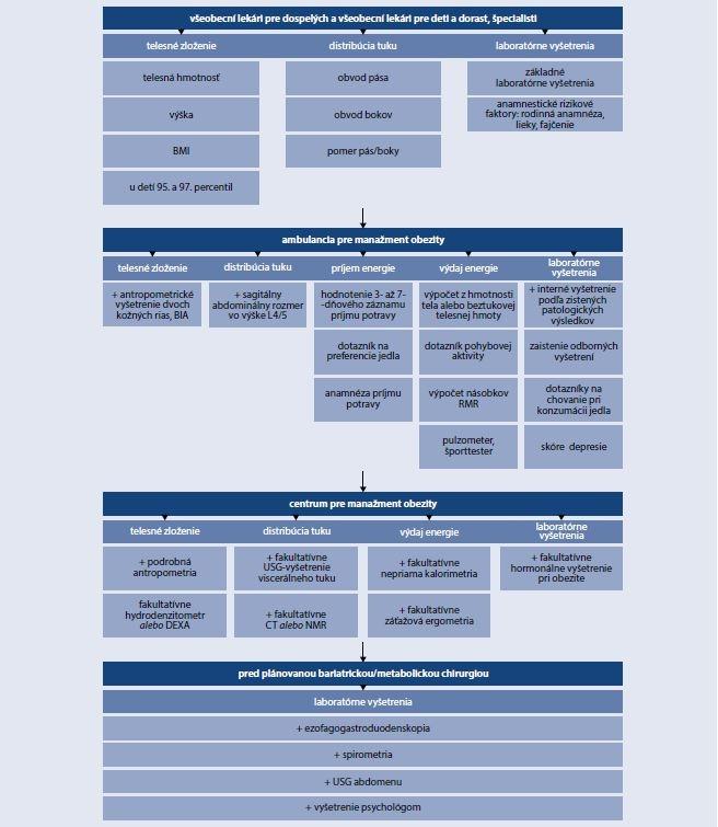 Schéma 3 | Náplň viacúrovňového multidisciplinárneho manažmentu obézneho pacienta